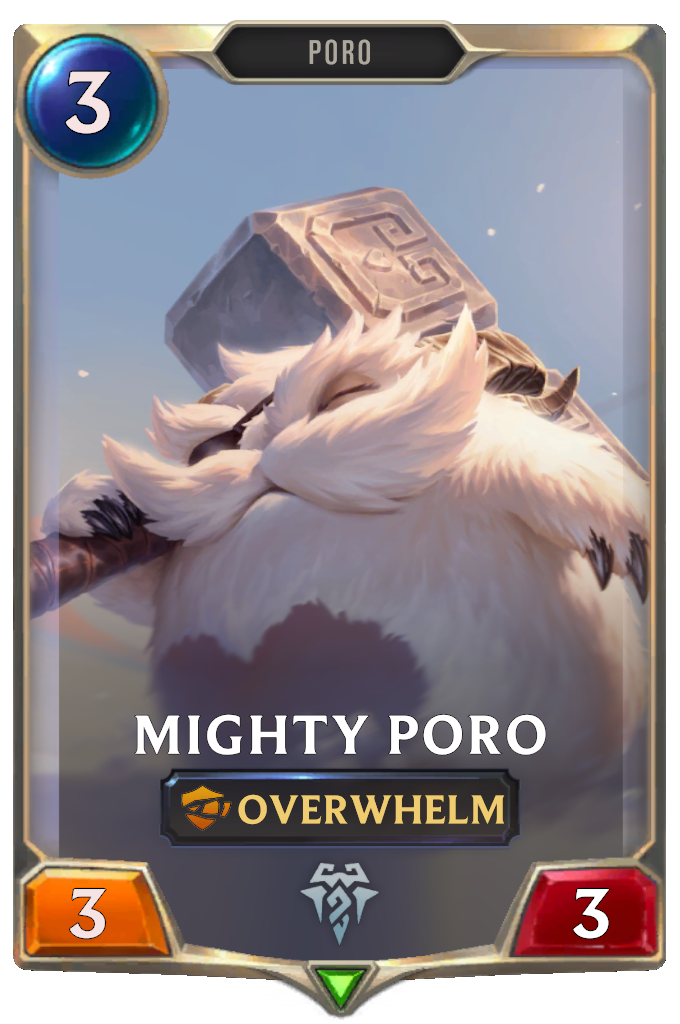 Legends of Runeterra Mighty Poro Card