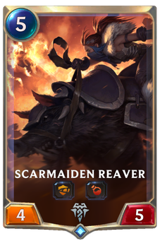 Legends of Runeterra Scarmaiden Reaver Card