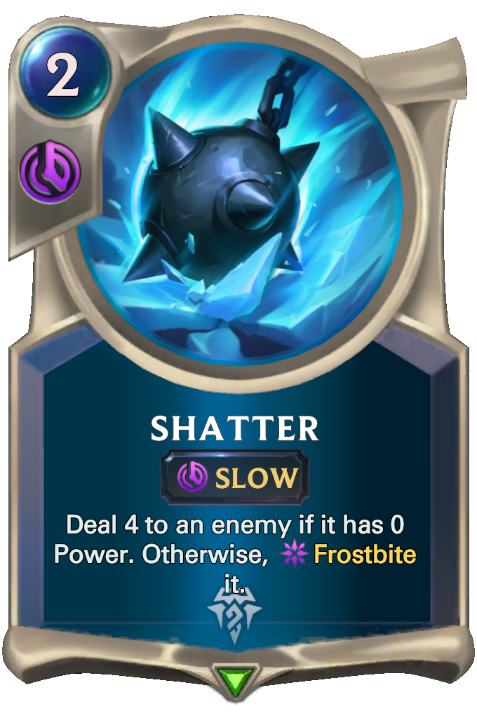 Legends of Runeterra Shatter Card