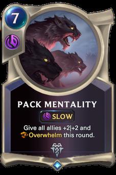 Legends of Runeterra Pack Mentality Card
