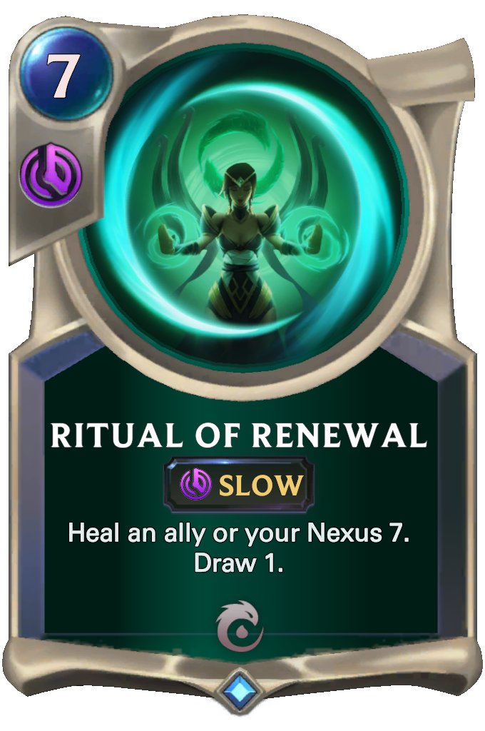 Legends of Runeterra Ritual of Renewal Card