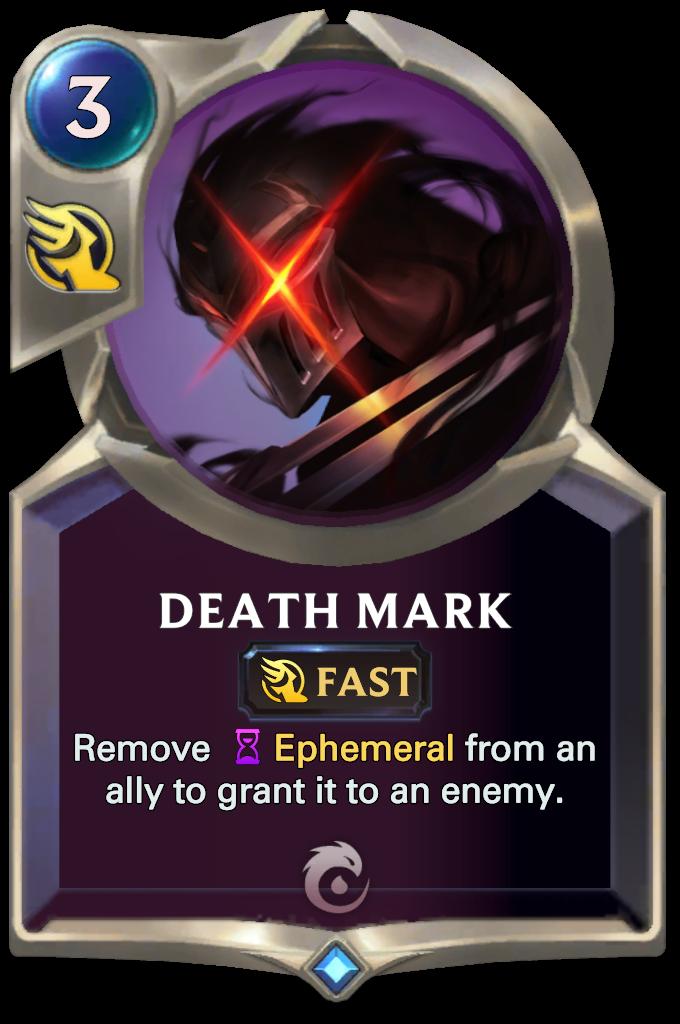 Legends of Runeterra Death Mark Card