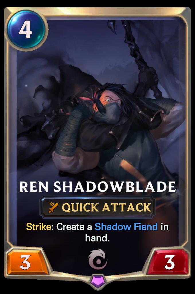 Legends of Runeterra Ren Shadowblade Card