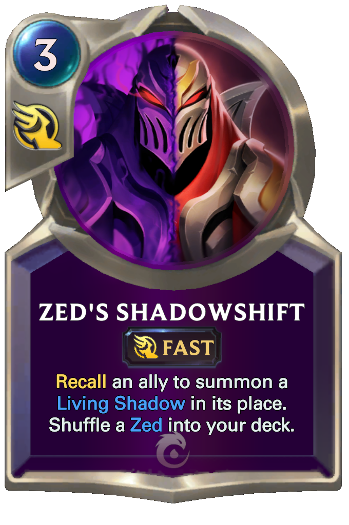 Legends of Runeterra Zed's Shadowshift Card