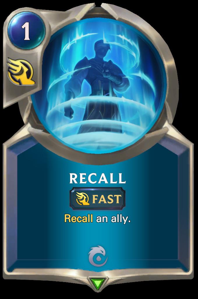 Legends of Runeterra Recall Card