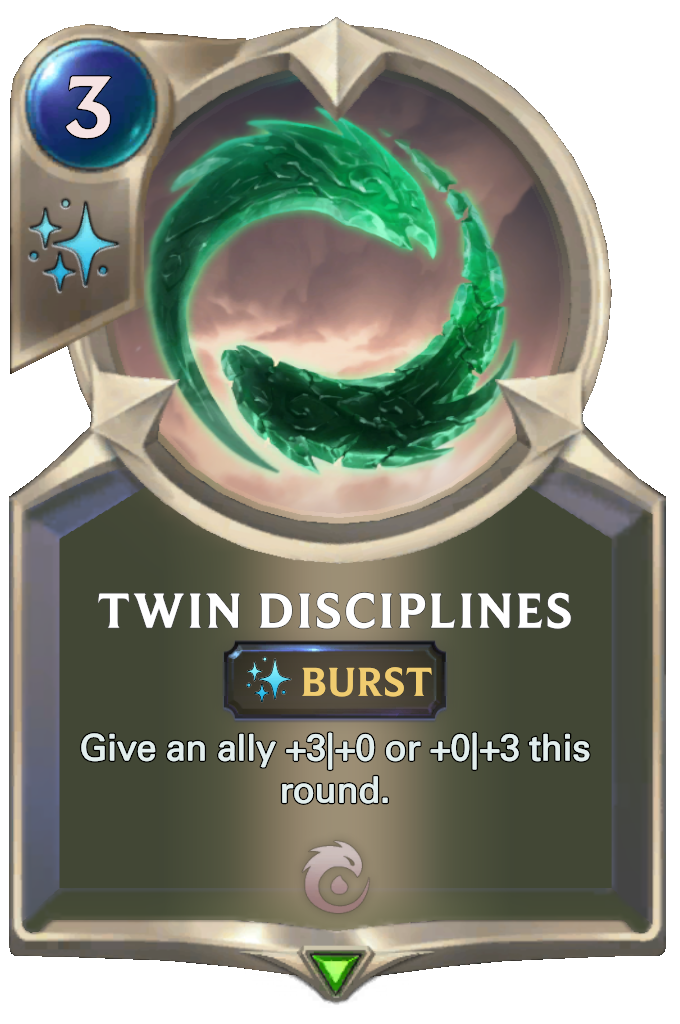 Twin Disciplines Card Image