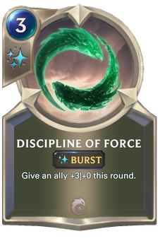 Legends of Runeterra Discipline of Force Card