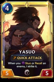 Legends of Runeterra Yasuo Card