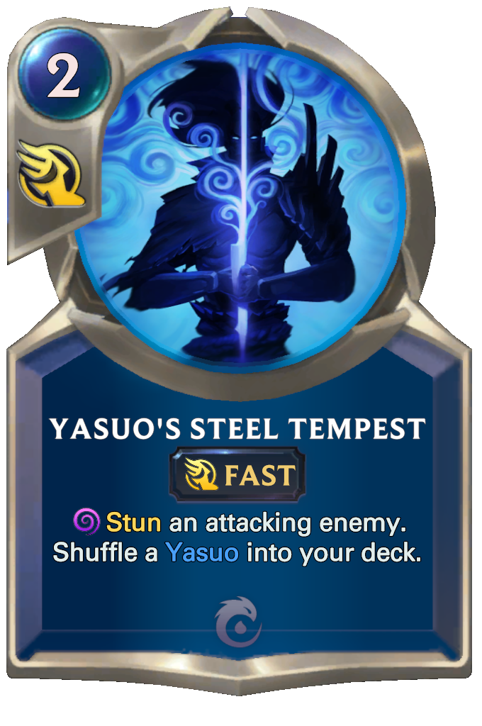 Legends of Runeterra Yasuo's Steel Tempest Card
