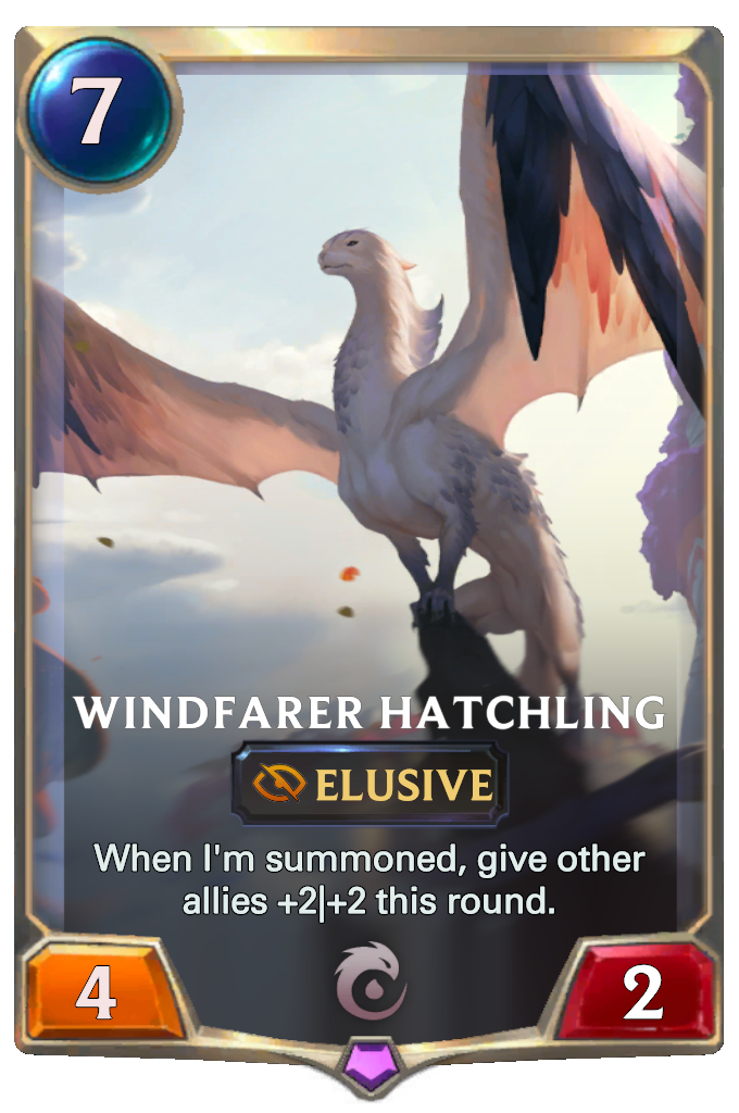 Legends of Runeterra Windfarer Hatchling Card