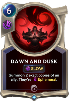 Dawn and Dusk Card Image