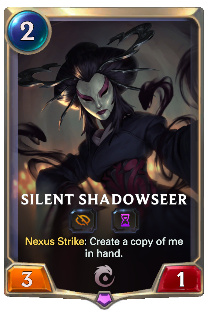 Legends of Runeterra Silent Shadowseer Card