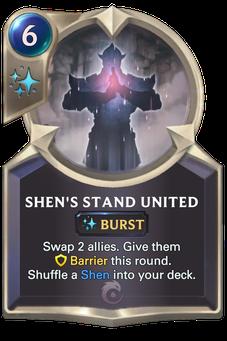 Legends of Runeterra Shen's Stand United Card