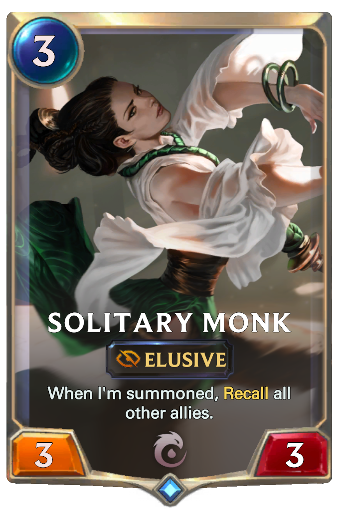 Legends of Runeterra Solitary Monk Card