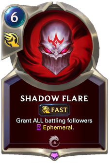 Legends of Runeterra Shadow Flare Card