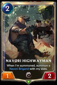 Legends of Runeterra Navori Highwayman Card