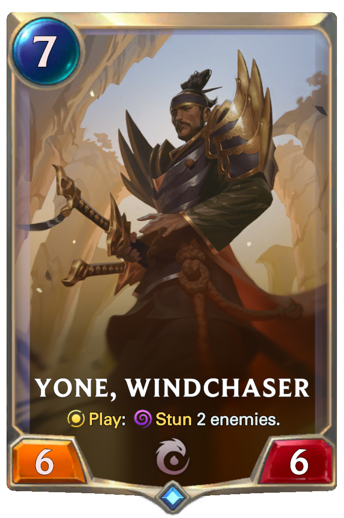 Legends of Runeterra Yone, Windchaser Card