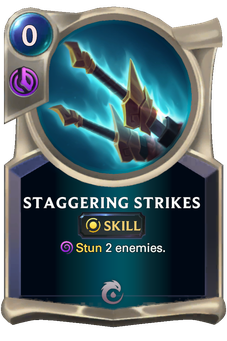 Staggering Strikes Card