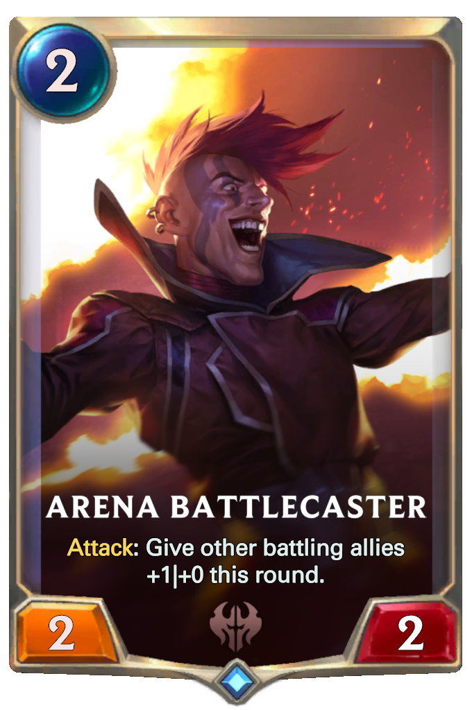 Legends of Runeterra Arena Battlecaster Card