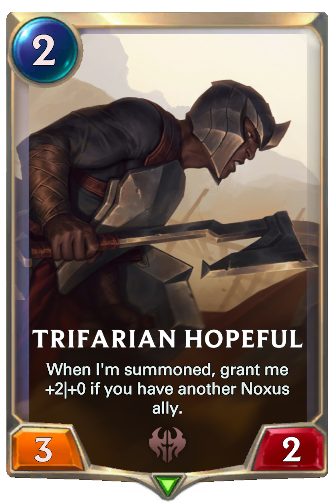 Legends of Runeterra Trifarian Hopeful Card