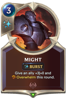 Legends of Runeterra Might Card