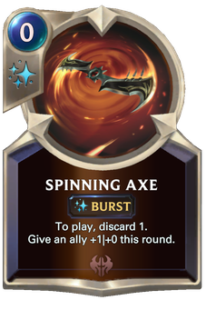 Spinning Axe Card