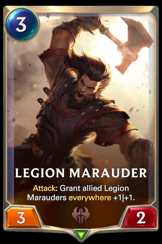 Legends of Runeterra Legion Marauder Card
