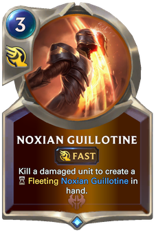 Legends of Runeterra Noxian Guillotine Card