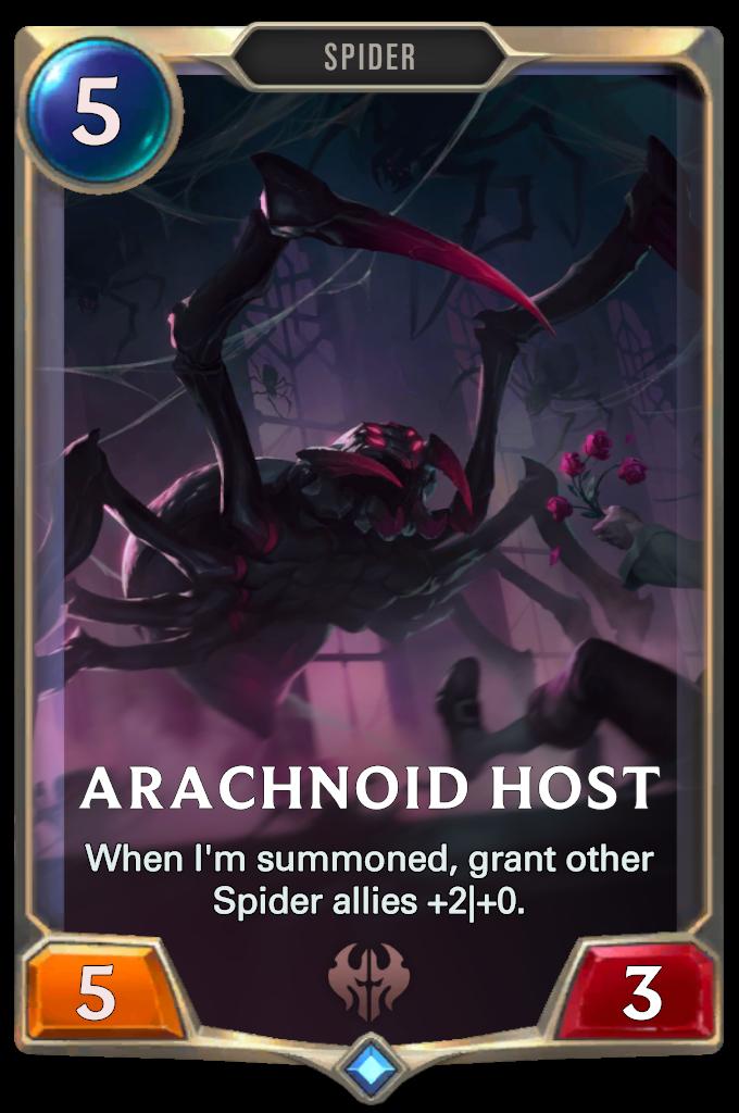Legends of Runeterra Arachnoid Host Card