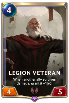 Legends of Runeterra Legion Veteran Card