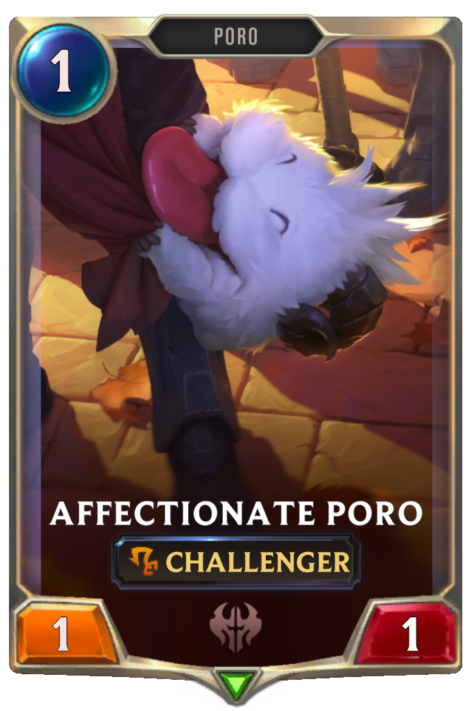 Affectionate Poro Card Image