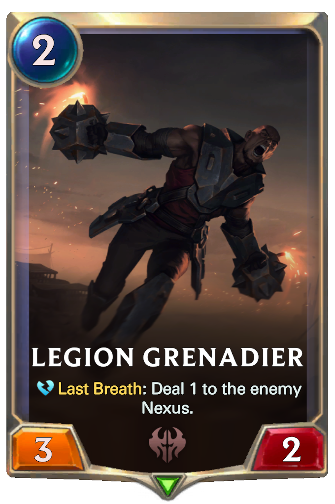 Legends of Runeterra Legion Grenadier Card