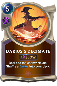 Legends of Runeterra Darius's Decimate Card