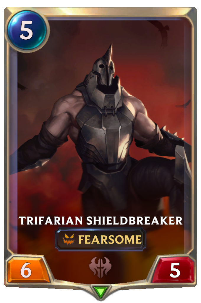 Legends of Runeterra Trifarian Shieldbreaker Card