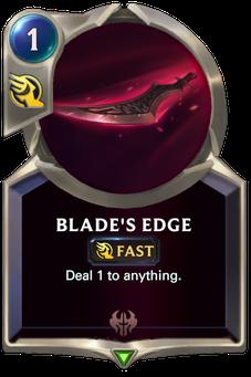 Legends of Runeterra Blade's Edge Card