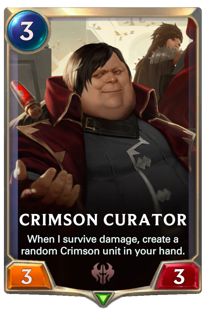 Legends of Runeterra Crimson Curator Card