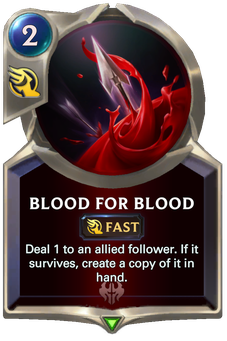 Legends of Runeterra Blood for Blood Card