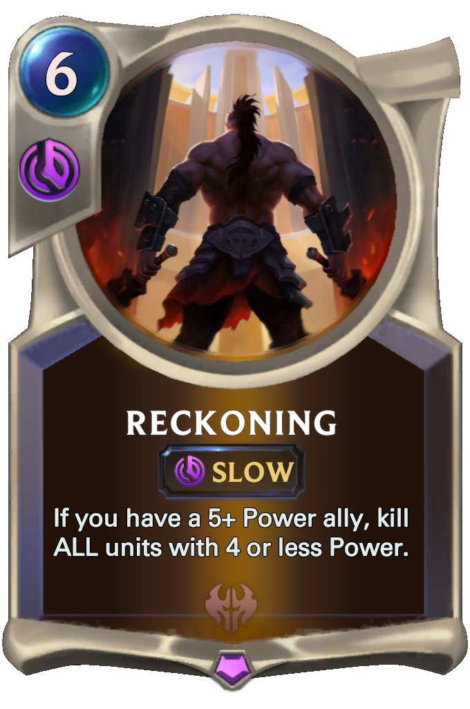 Legends of Runeterra Reckoning Card