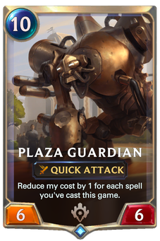 Legends of Runeterra Plaza Guardian Card