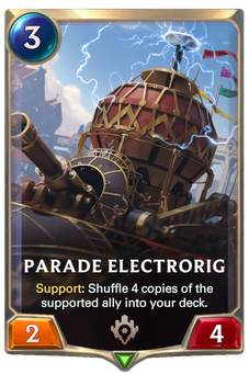 Legends of Runeterra Parade Electrorig Card