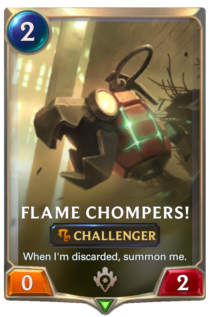 Legends of Runeterra Flame Chompers! Card