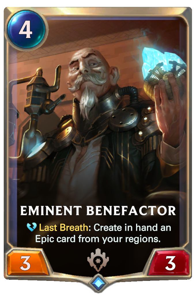 Legends of Runeterra Eminent Benefactor Card