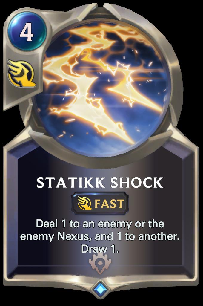 Legends of Runeterra Statikk Shock Card