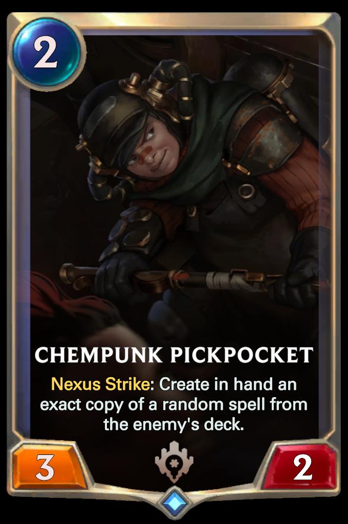 Legends of Runeterra Chempunk Pickpocket Card