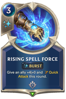 Legends of Runeterra Rising Spell Force Card