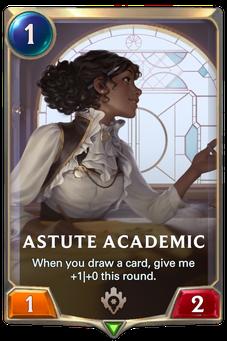 Legends of Runeterra Astute Academic Card