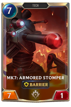 Legends of Runeterra Mk7: Armored Stomper Card