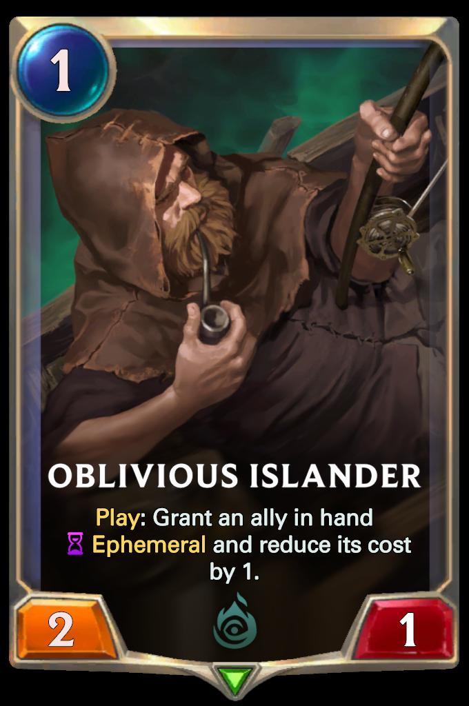 Legends of Runeterra Oblivious Islander Card