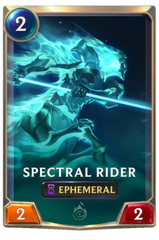 Spectral Rider Card