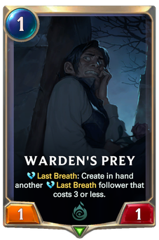 Legends of Runeterra Warden's Prey Card